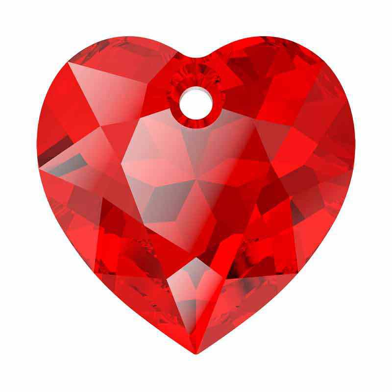 14.5MM Light Siam Heart Cut Pendant 6432 SWAROVSKI
