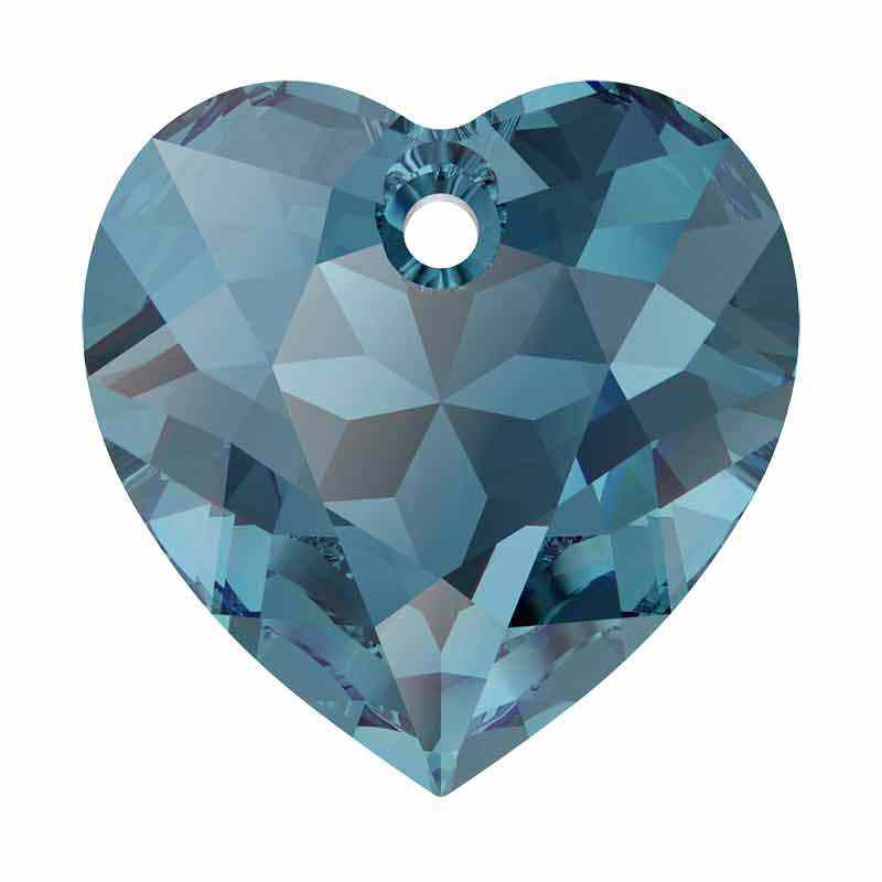 14.5MM Montana Heart Cut Pendant 6432 SWAROVSKI