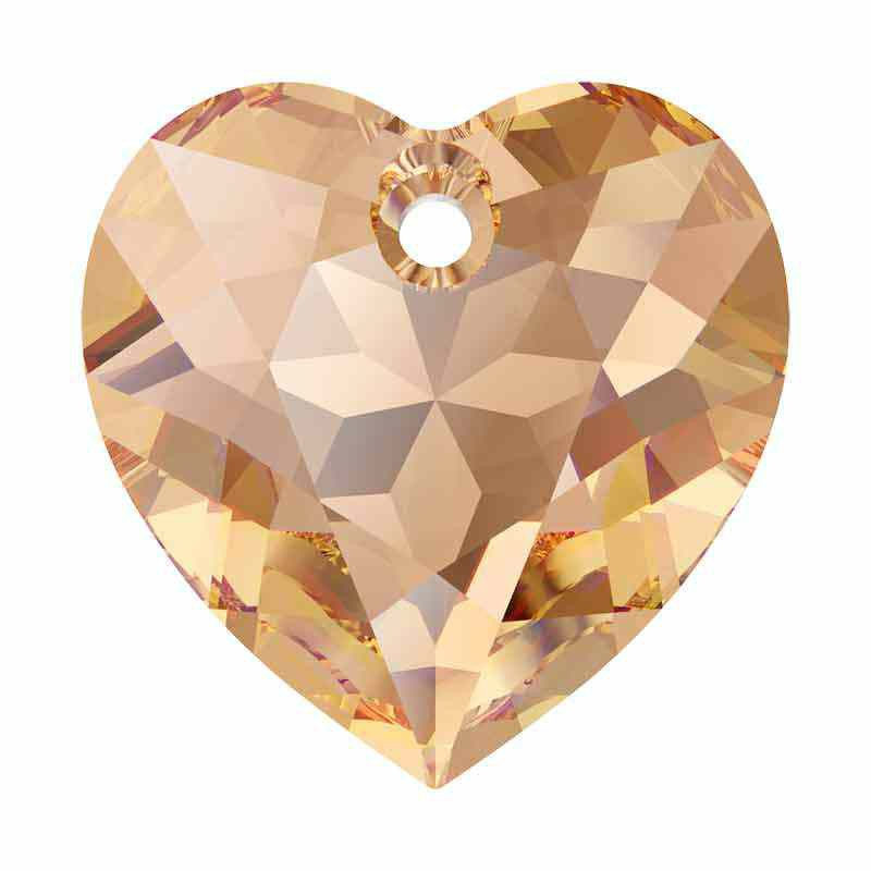 14.5MM Lt. Colorado Topaz Heart Cut Pendant 6432 SWAROVSKI