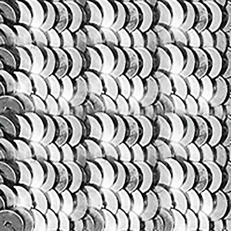 4мм Silver Metallic Пайетки LM Франция