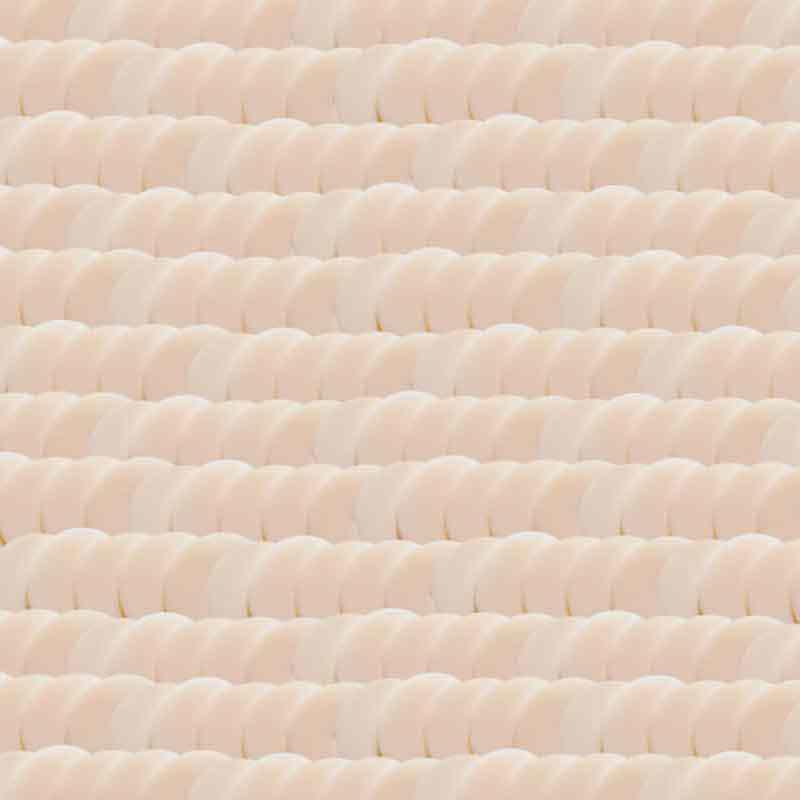 4mm Vaaleanpunainen beige Posliini Paillettes LM France