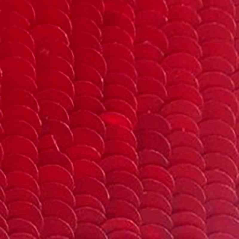 4mm Vulcan Red Nacrolaque 75 Paillettes LM France