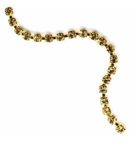 SS6.5(~2.1mm) Gold Plated Lt.Colorado Topaz S MAXIMA Cup Chain