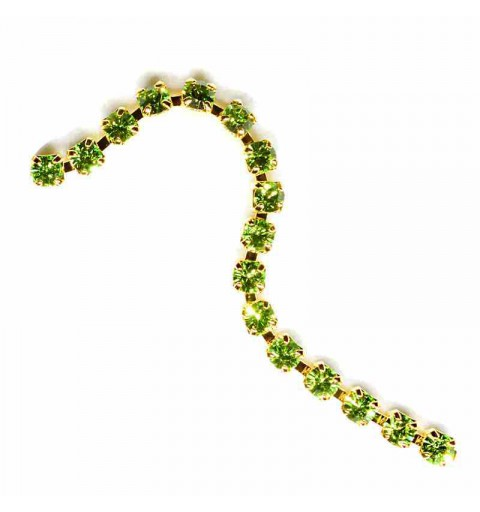 SS6.5(~2.1mm) Gold Plated Peridot S MAXIMA Cup Chain