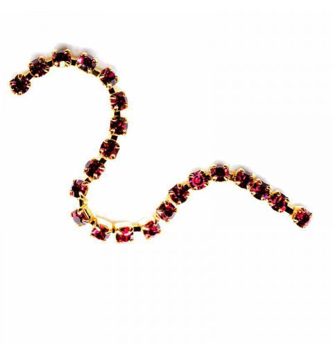 SS6.5(~2.1mm) Gold Plated Ruby S MAXIMA Cup Chain