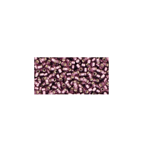 TR-11-26BF SILVER-LINED FROSTED MED AMETHYST TOHO SEED BEADS