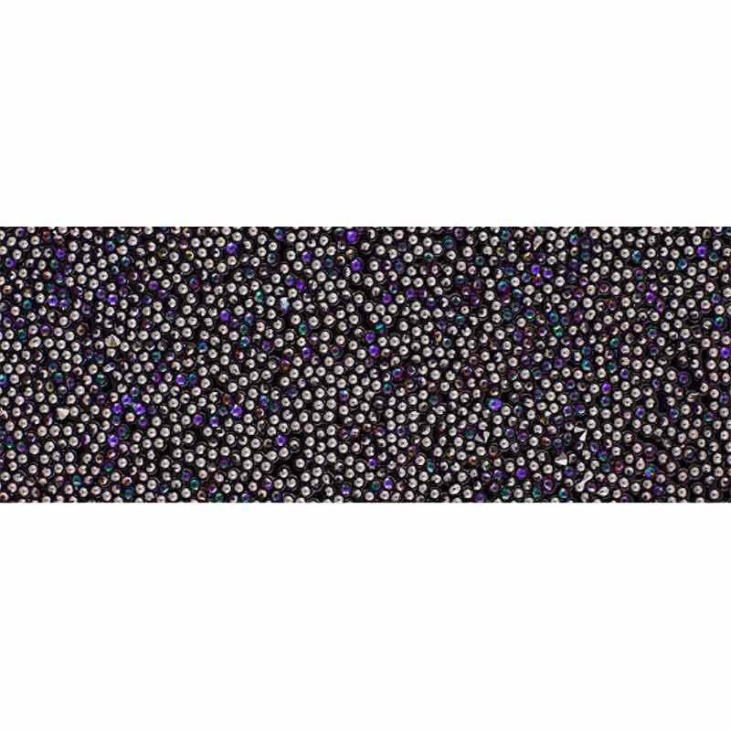 Heliotrope IT/Black 57000 Crystal Fabric Banding SWAROVSKI