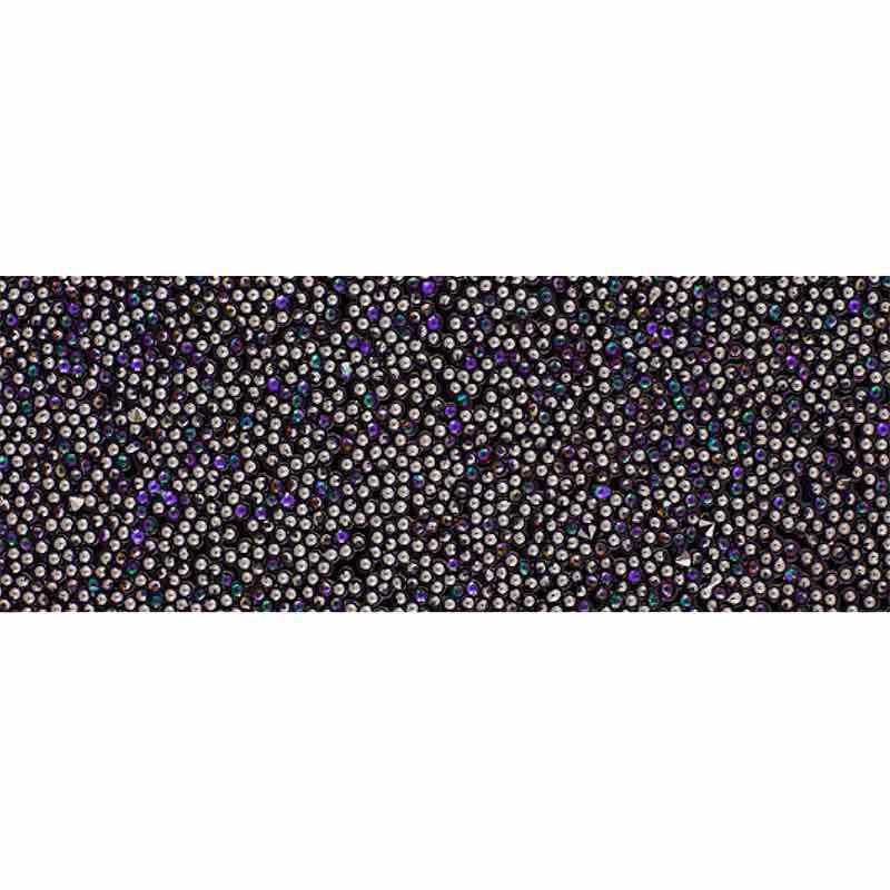 Heliotrope IT/Black 57000 Crystal Fabric Banding SWAROVSKI