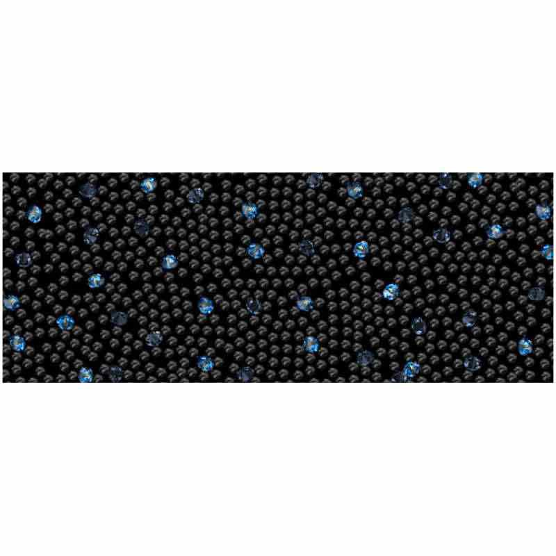 Moonlight IT/Black 57000 Crystal Fabric Banding SWAROVSKI