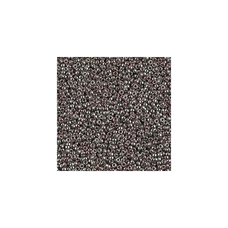 RR-15-190 Nickel Plated Miyuki Round Seed Beads 15/0