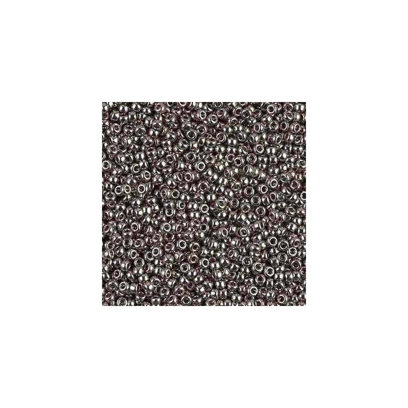 RR-11-190 Nickel Plated Miyuki Round Seed Beads 11/0