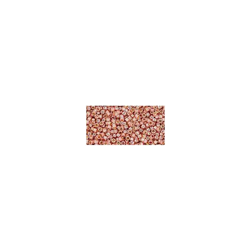 TT-01-PF552 PermaFinish Galvanized Sweet Blush TOHO Treasures Seed Beads