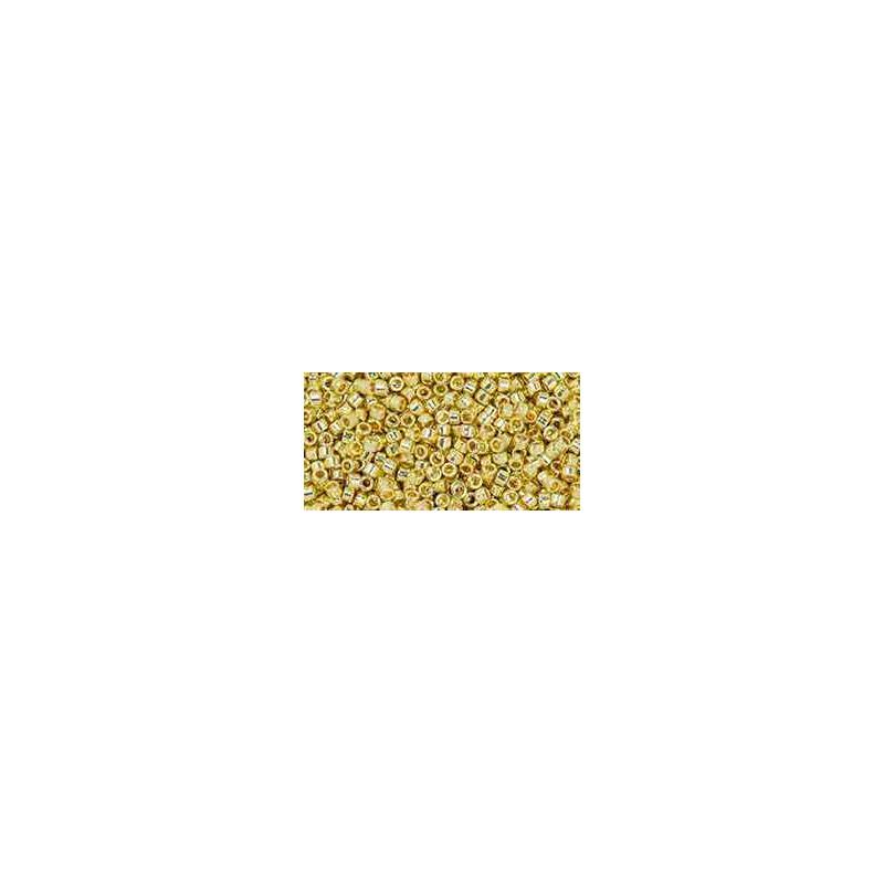 TT-01-PF559 PermaFinish Galvanized Yellow Gold TOHO Treasures Seed Beads