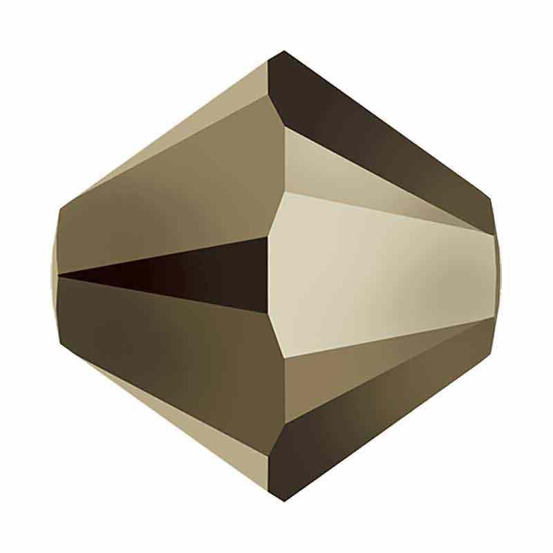 4MM Metallic Light Gold 2x 5328 XILION Bi-Cone Beads SWAROVSKI