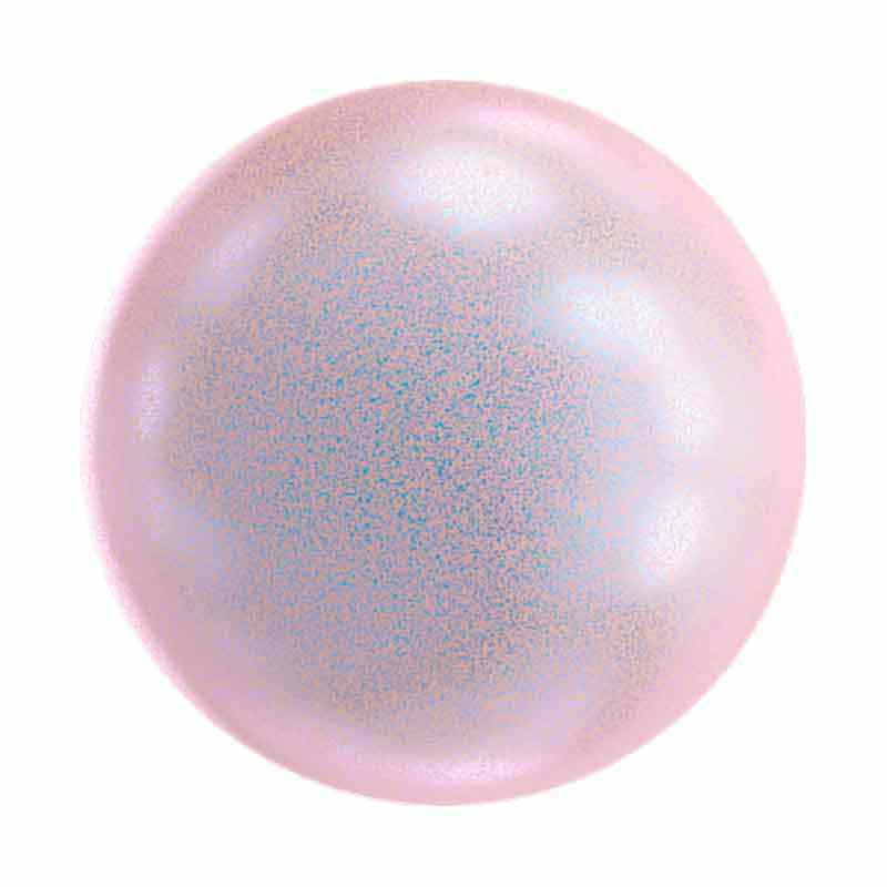 10MM Iridescent Dreamy Rose Half Drilled Pearl 5818 SWAROVSKI