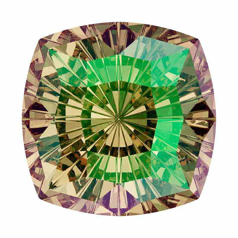 14mm Luminous Green F Mystic Square FS 4460 Swarovski