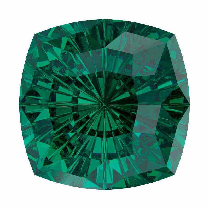 14mm Emerald F Mystic Square FS 4460 Swarovski