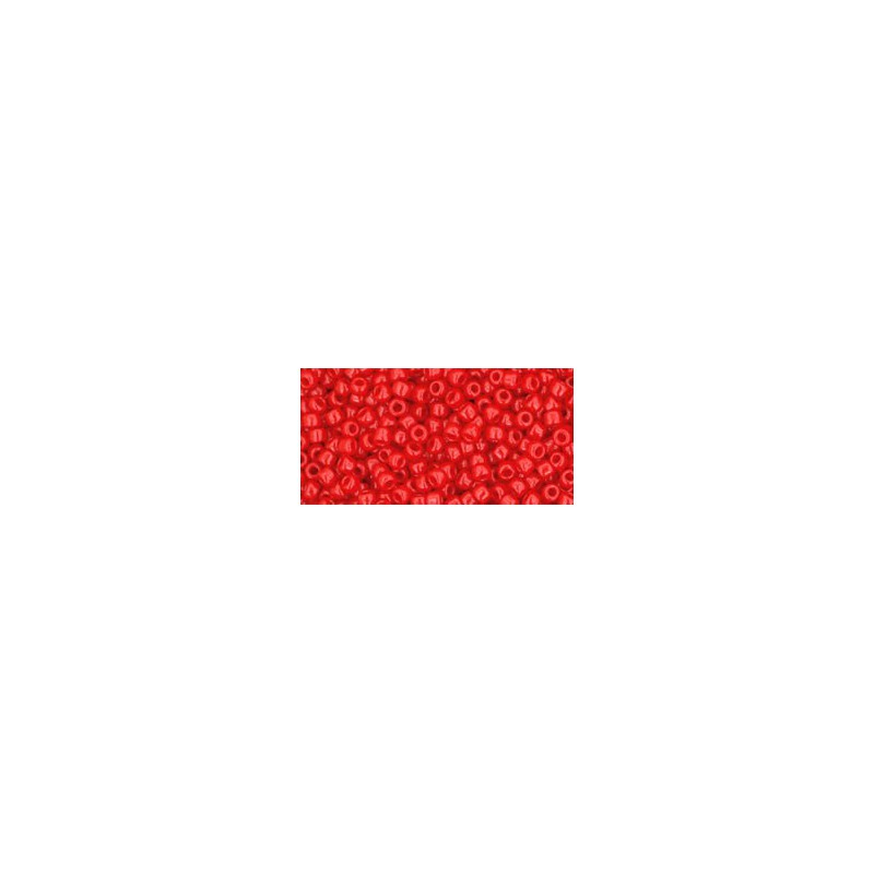 TR-11-45A OPAQUE CHERRY TOHO SEED BEADS