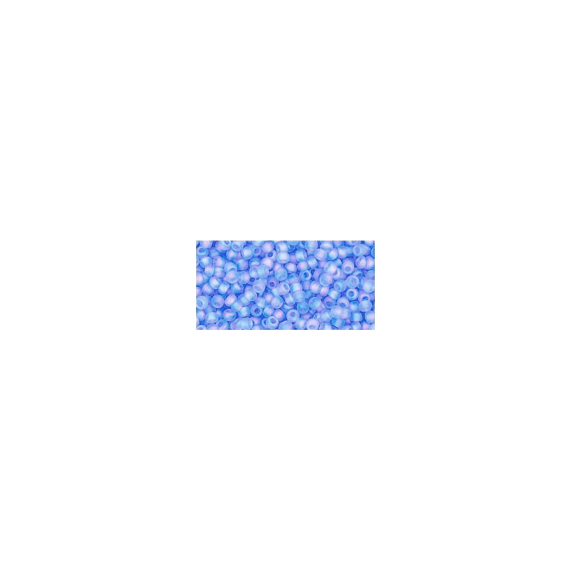TR-11-168F TRANS-RAINBOW-FROSTED LT.SAPPHIRE TOHO SEED BEADS