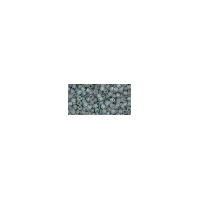 TR-11-176AF TRANS-RAINBOW-FROSTED BLACK DIAMOND TOHO SEED BEADS