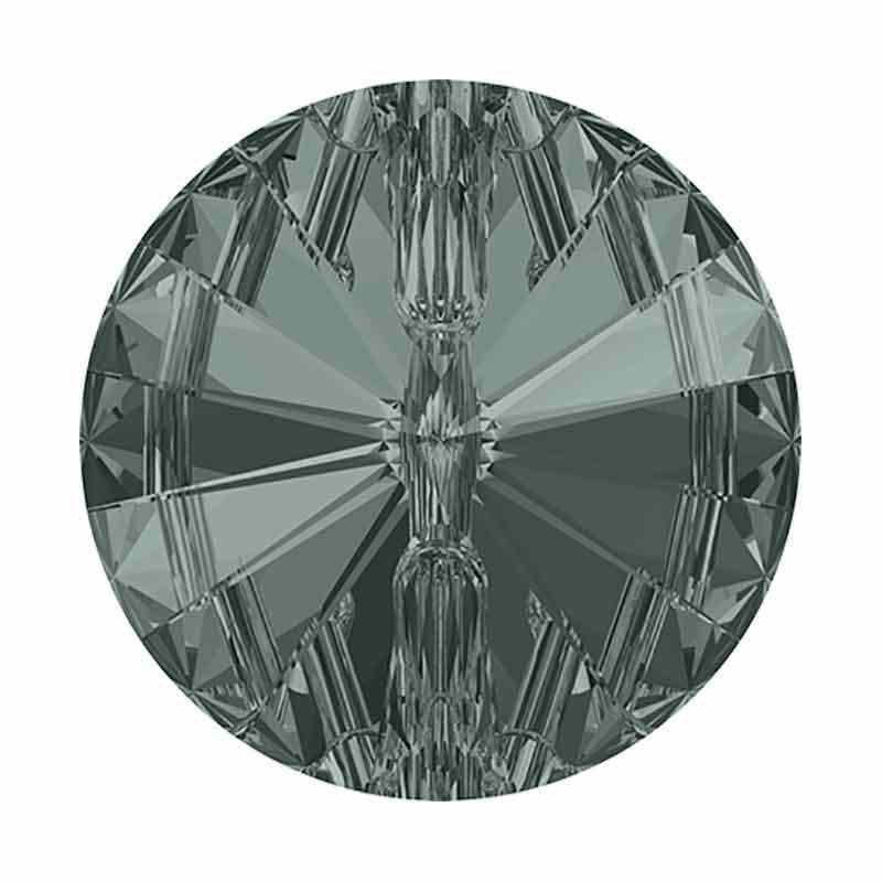 12MM Black Diamond F Rivoli 3015 Nööp SWAROVSKI