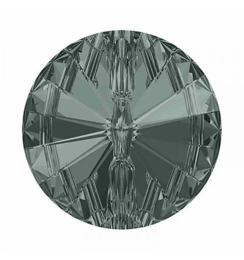 12MM Black Diamond F Rivoli 3015 Button SWAROVSKI