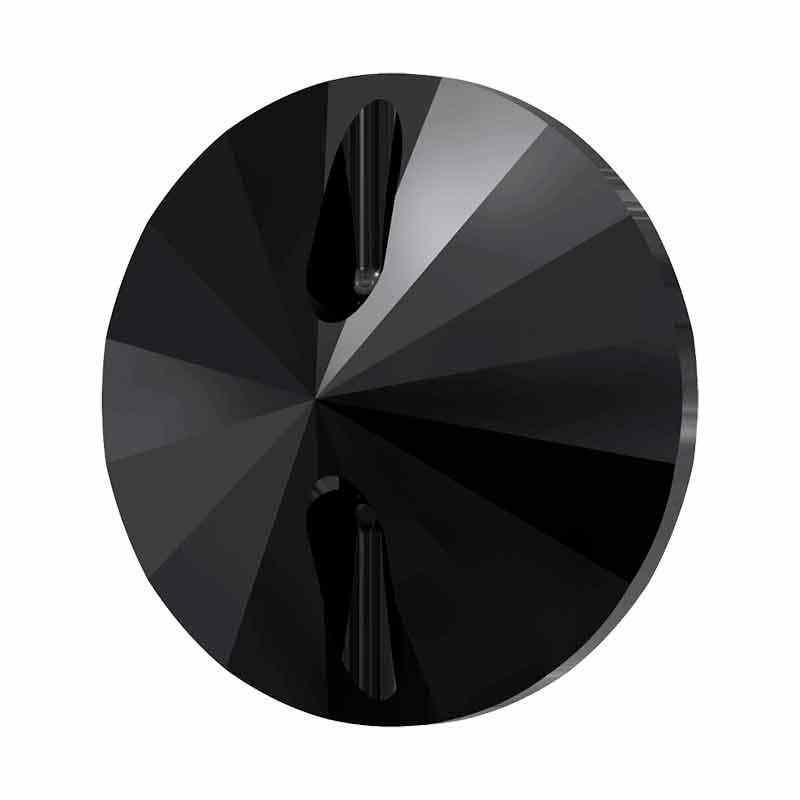14MM Jet Rivoli 3015 Button SWAROVSKI Crystal
