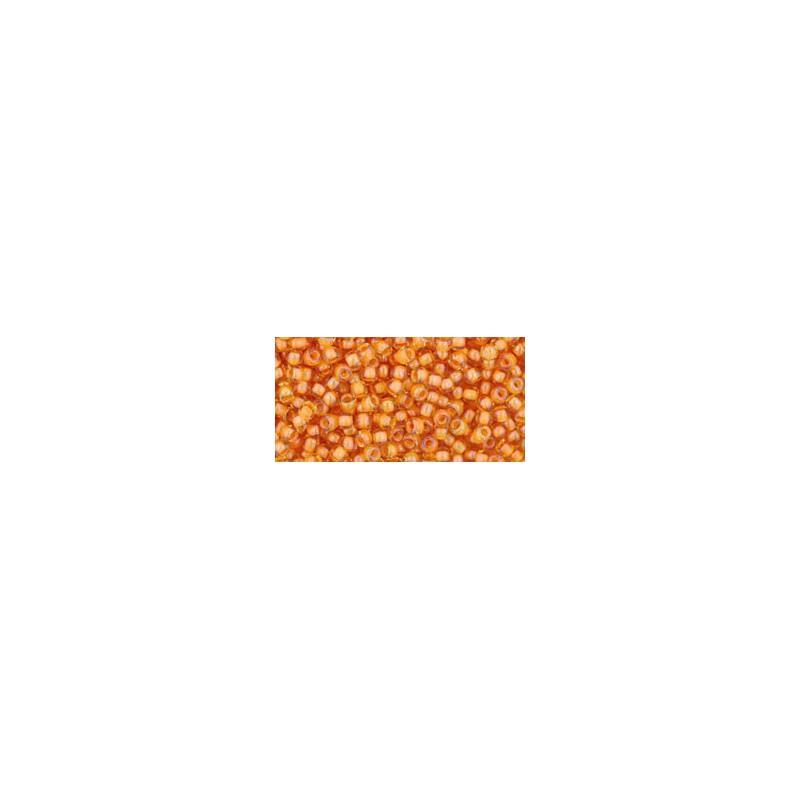TR-11-950 INSIDE-COLOR JONQUIL/BURNT ORANGE LINED TOHO SEED BEADS