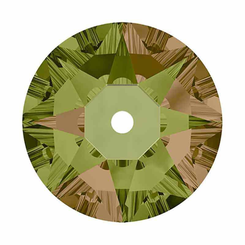 4MM Luminous Green F 3188 XIRIUS Lochrose SWAROVSKI Sew-on Stone