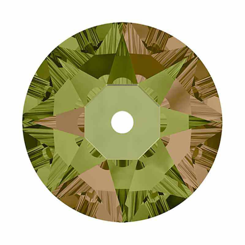 5MM Luminous Green F 3188 XIRIUS Lochrose SWAROVSKI Sew-on Stone