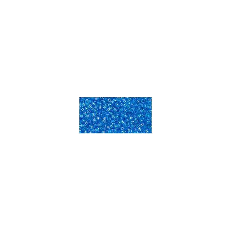 TT-01-163B Transparent-Rainbow Dark Aqua TOHO Treasures Seed Beads