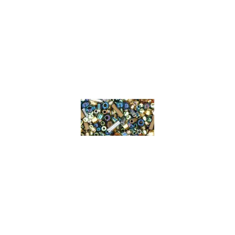 TX-01-3220 Raiden- Gold/Green/Blue Miks TOHO Seemnehelmed