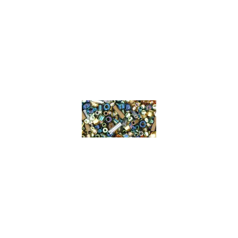 TX-01-3220 Raiden- Gold/Green/Blue Mix TOHO Seed Beads