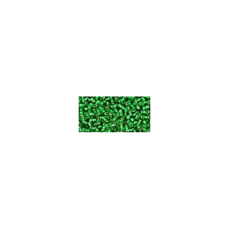 TR-11-27B Silver-Lined Grass Green TOHO Seed Beads