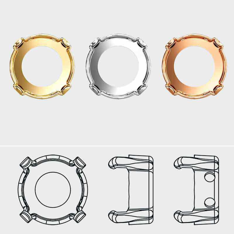 12MM 1122/S 3PH2O3 Rivoli Setting (4HOLES-OPEN) Gold.Pl.Tombac