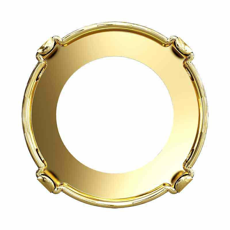 SS47 1122/S 3PH2O3 Rivoli Setting (4HOLES-OPEN) Gold.Pl.Tombac