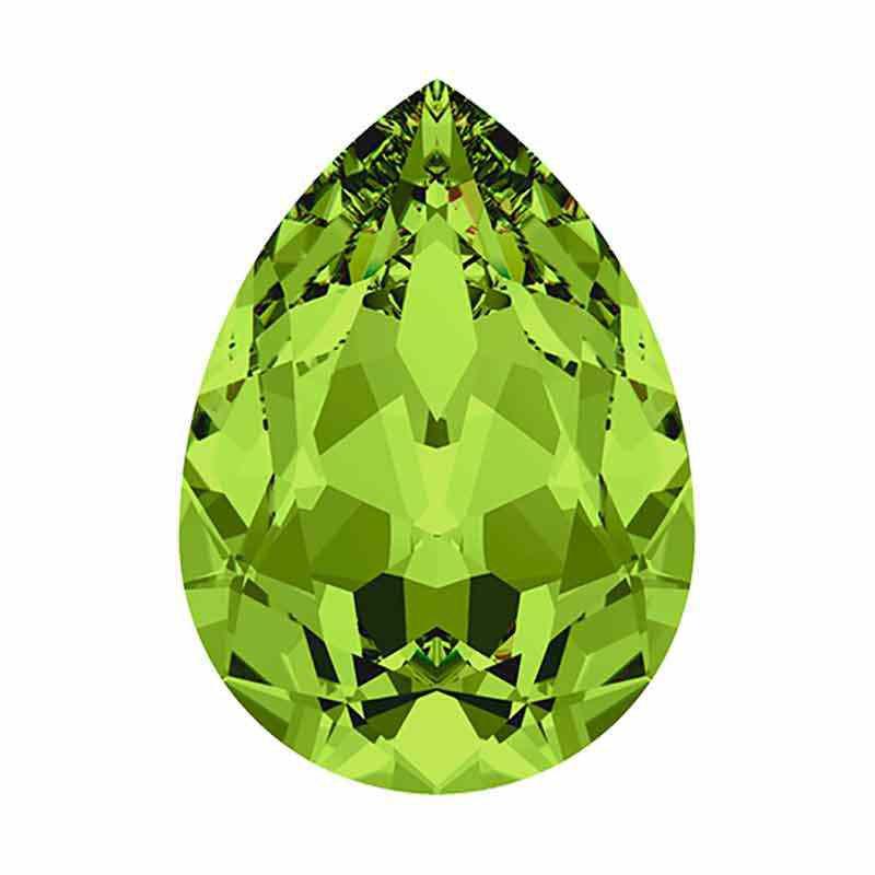 14x10mm Olivine F Pear-Shaped Fancy Stone 4320 Swarovski Crystal