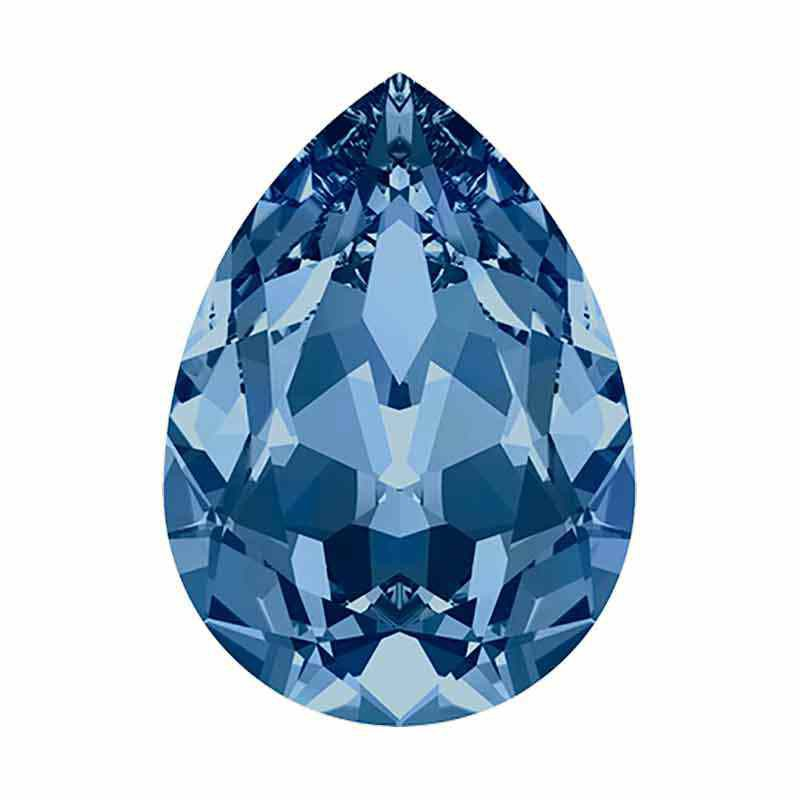 14x10mm Montana F Pear-Shaped Fancy Stone 4320 Swarovski Crystal