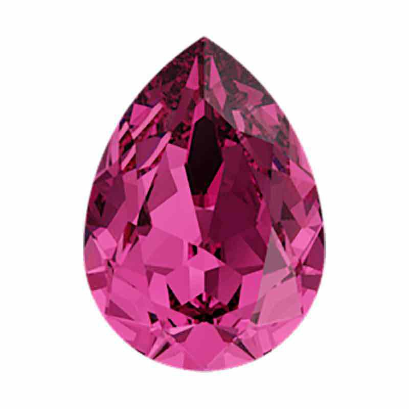 14x10mm Fuchsia F Pear-Shaped Fancy Stone 4320 Swarovski Crystal