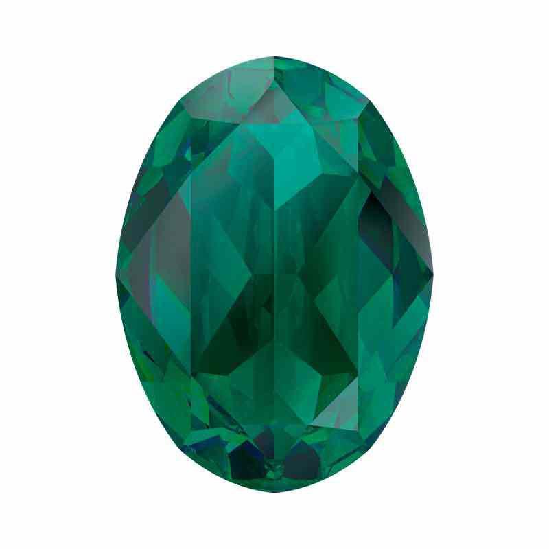 18x13mm Emerald Ignite Oval Fancy Stone 4120 Swarovski