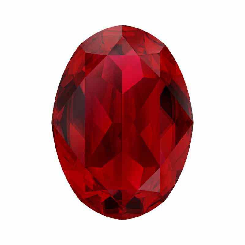 18x13mm Scarlet Ignite Oval Fancy Stone 4120 Swarovski