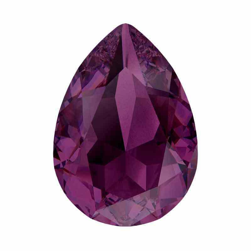 14x10mm Amethyst Ignite Pear-Shaped Fancy Stone 4320 Swarovski