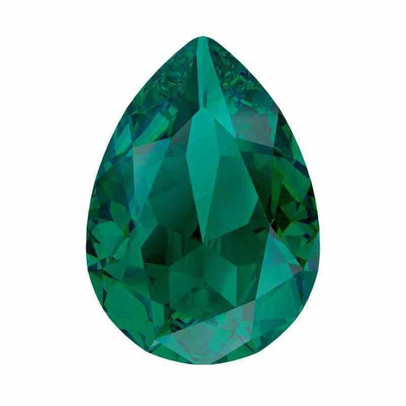 14x10mm Emerald Ignite Pear-Shaped Fancy Stone 4320 Swarovski