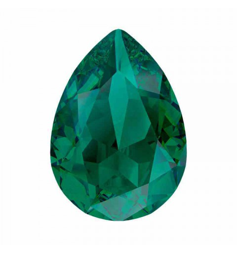 14x10mm Emerald Ignite Pear-Shaped Fancy Stone 4320 Swarovski