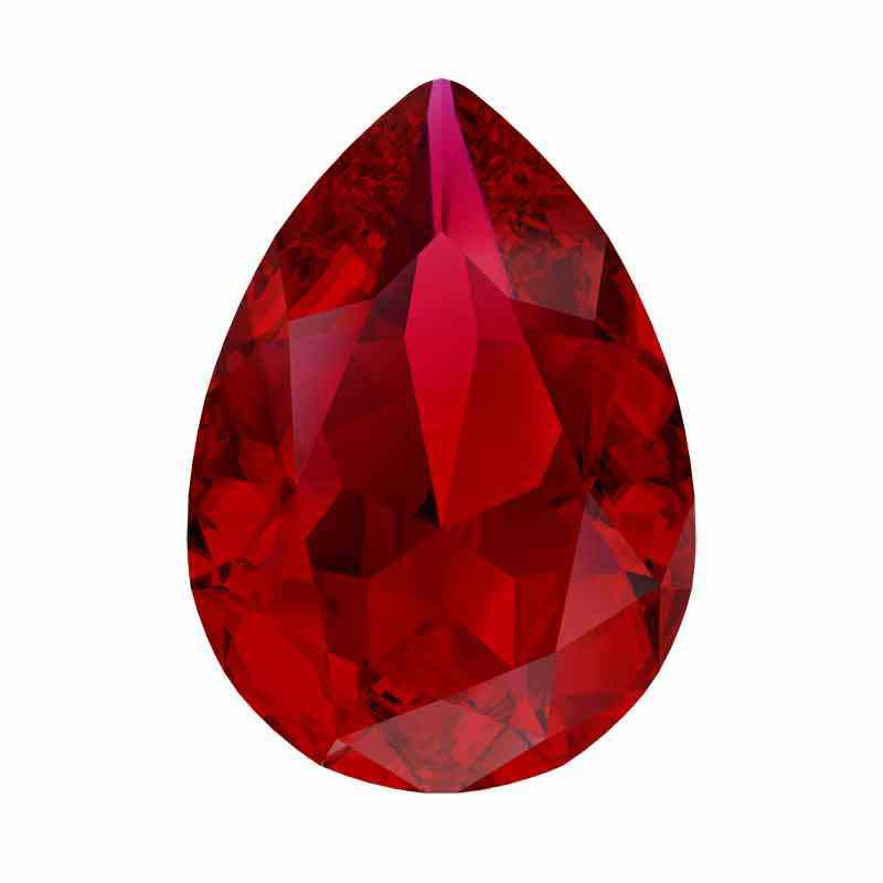 14x10mm Scarlet Ignite Pear-Shaped Fancy Stone 4320 Swarovski