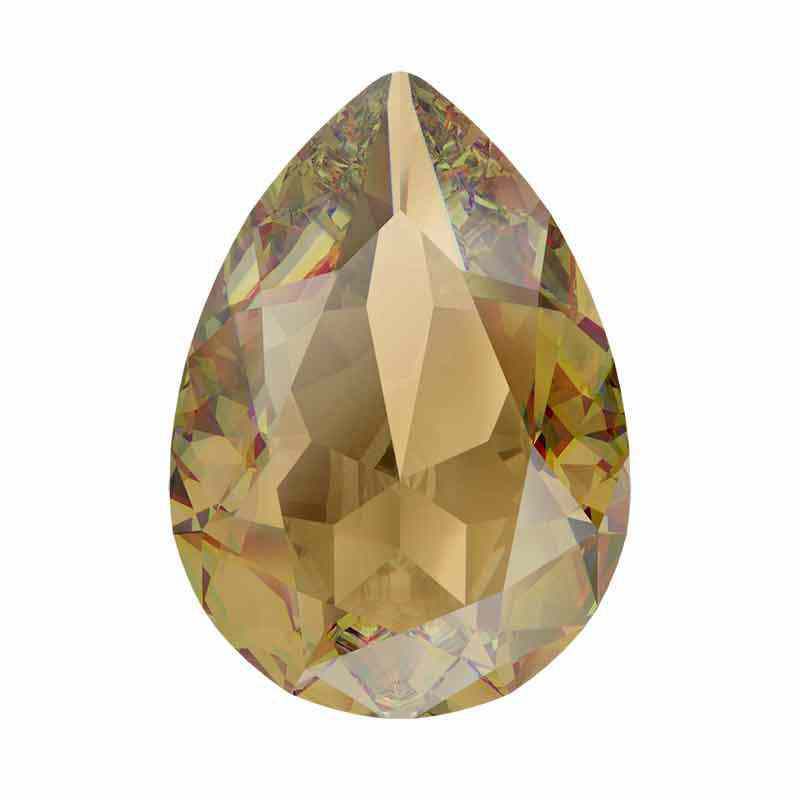 18x13mm Lt. Colorado Topaz Ignite Pear-Shaped Fancy Stone 4320 Swarovski