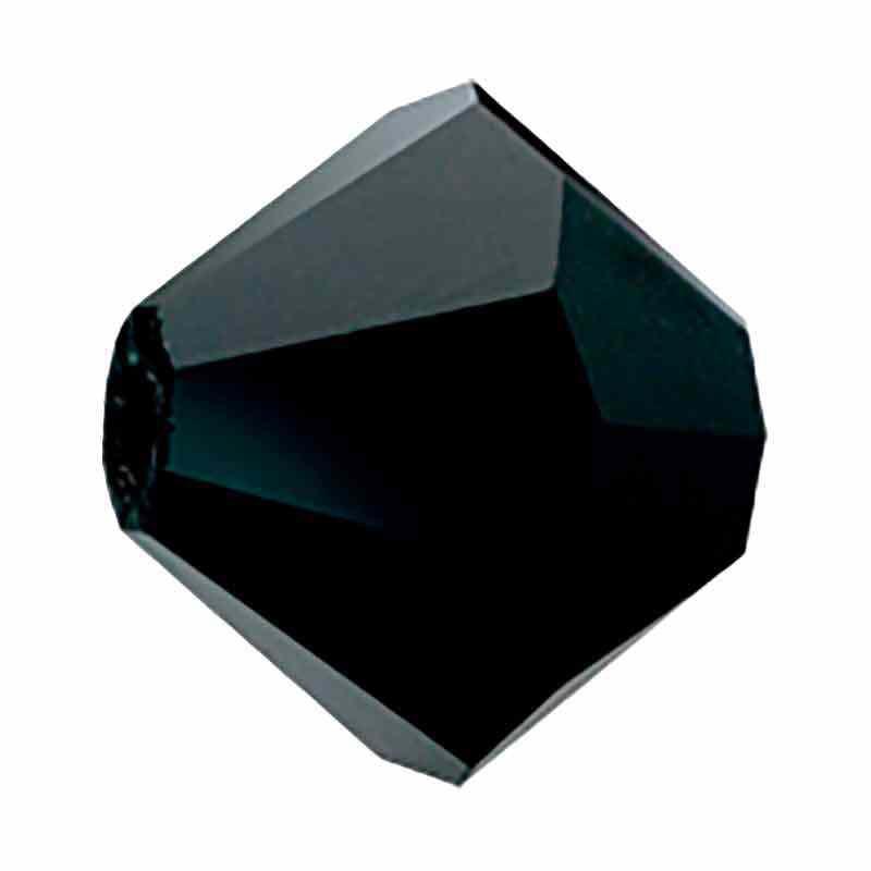 4MM Чёрный BiCone Rondell Preciosa бусины