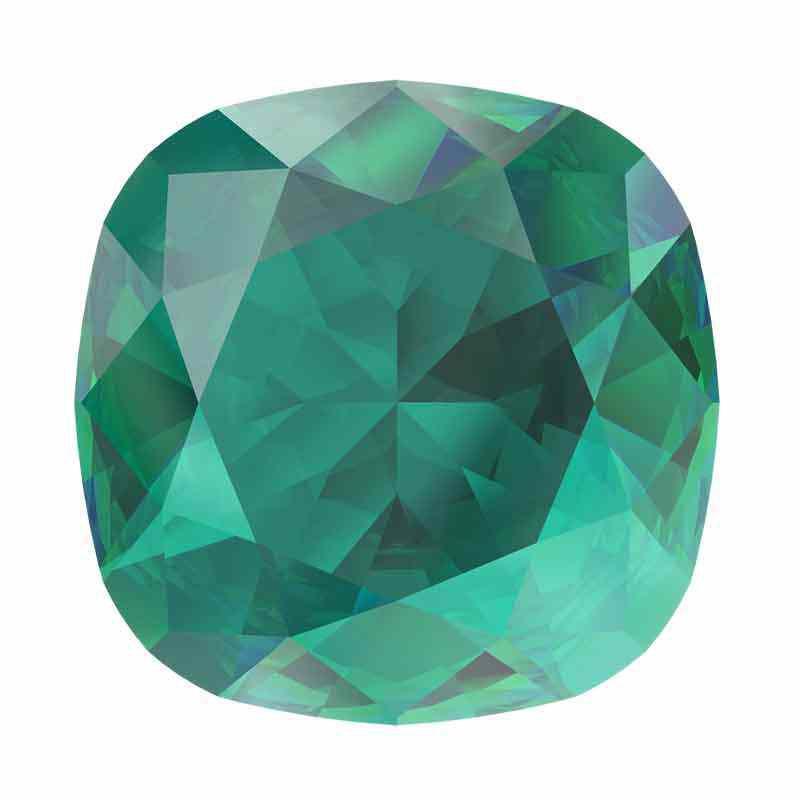 10mm Emerald Ignite Cushion Square Fancy Stone 4470 Swarovski