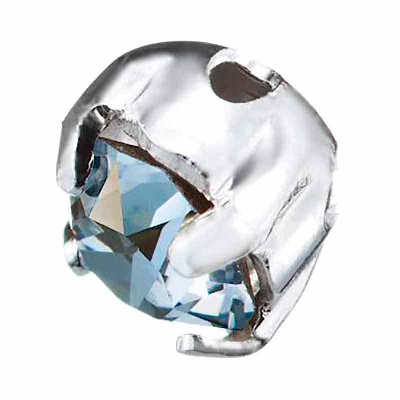 PP31 Blue Shade F Silver Brushed 53200 Chaton Montees Swarovski