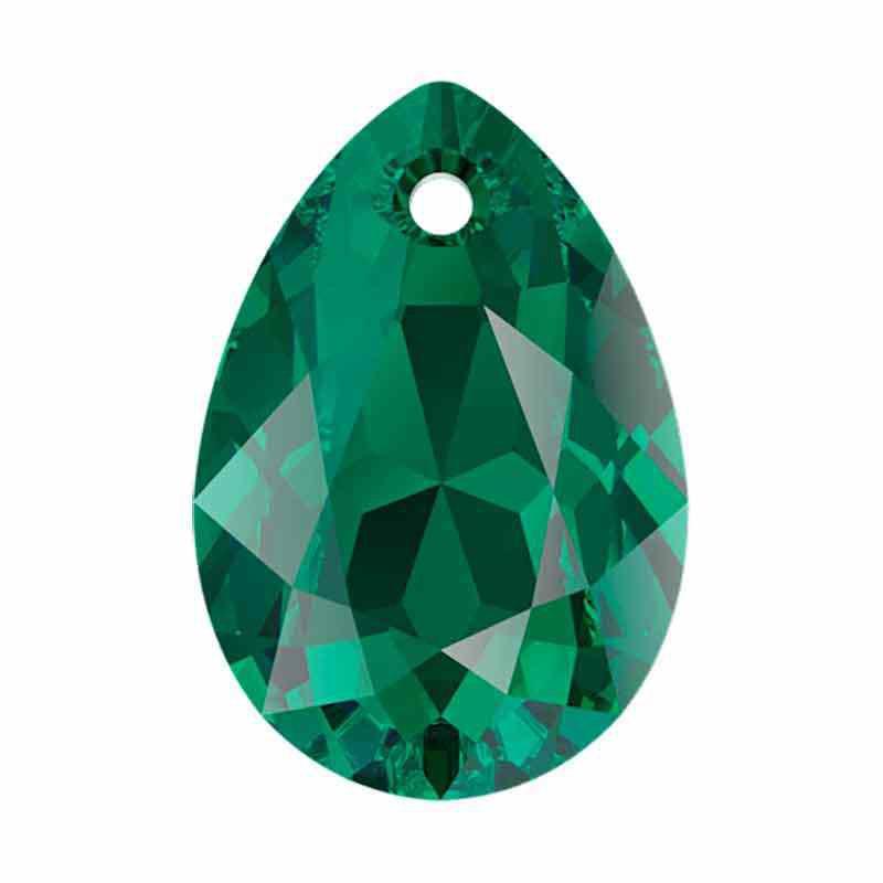 16MM Emerald Pear Cut Pendant 6433 SWAROVSKI